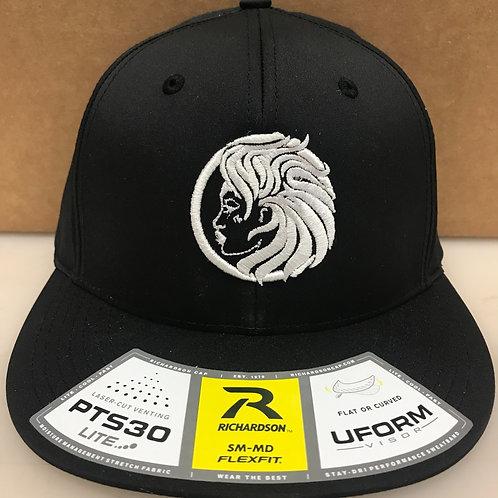 Juno FlexFit Black with White Logo