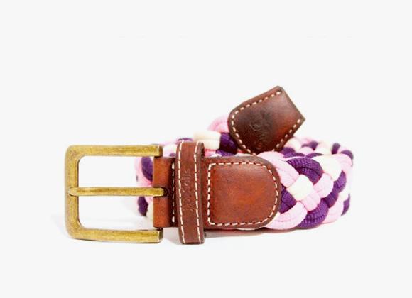 Purple orchid woven belt