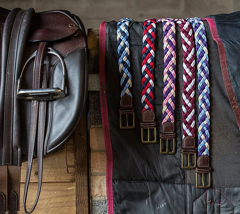Colourful woven belts