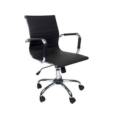 EZOFFICE COLLECTION - LOW BACK LEATHER CHAIR