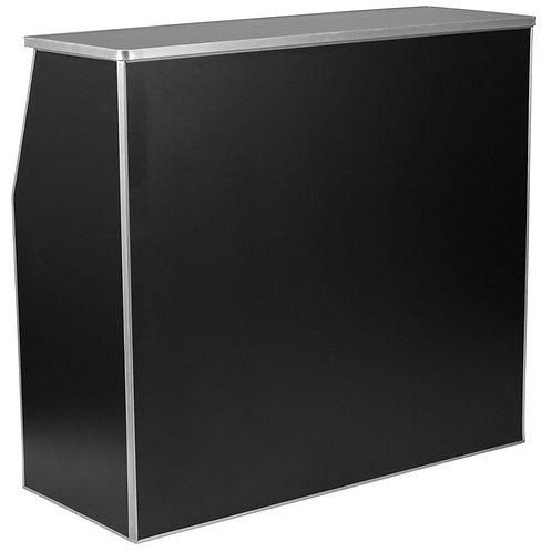 EZ-  4' BLACK LAMINATE FOLDABLE BAR