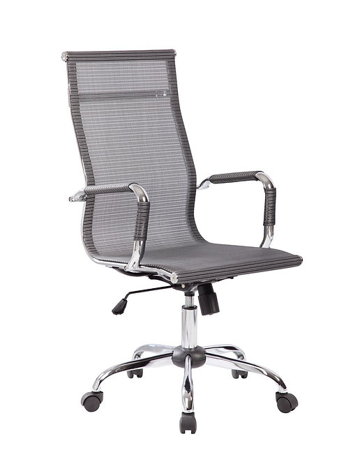 THE COSMOPOLITAN HIGH BACK MESH CHAIR WITH CHROME BASE