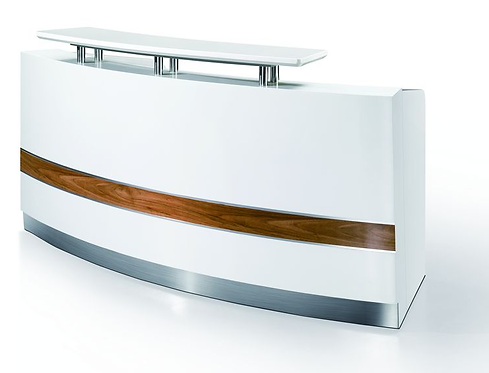 The Hot White Reception Desk