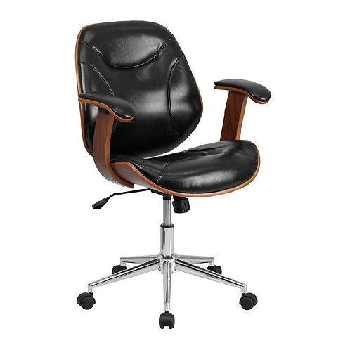 MID-BACK EXECUTIVE WOOD OFFICE CHAIR