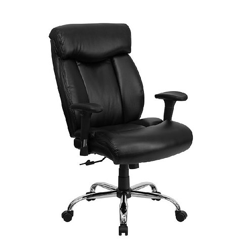 HERCULES SERIES 400 LB - BIG & TALL BLACK LEATHER OFFICE CHAIR
