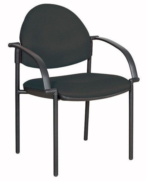 ROUND BACK GUEST CHAIR WITH ARMS