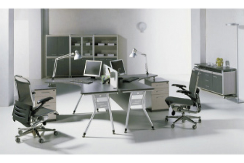 MODERN TWO PERSON WORKSTATION