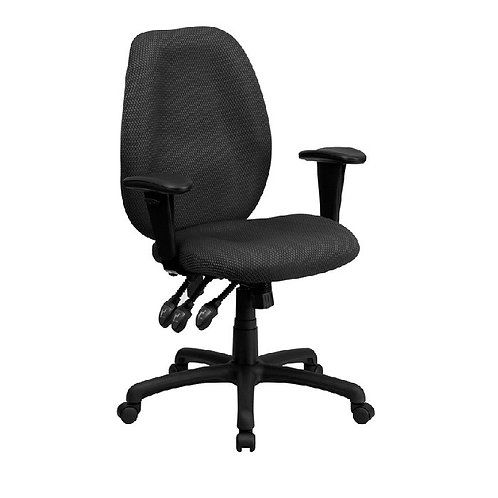 EZOFFICE COLLECTION - HIGH BACK FABRIC ERGONOMIC TASK CHAIR WITH ARMS