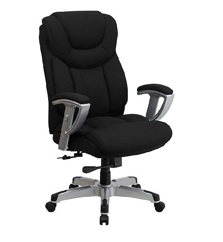 HERCULES SERIES - BLACK FABRIC EXECUTIVE SWIVEL OFFICE CHAIR