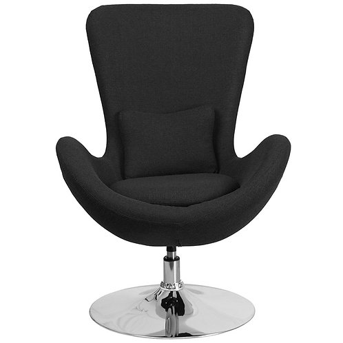 EZOFFICE FABRIC EGG CHAIR WITH TILT-LOCK MECHANISM