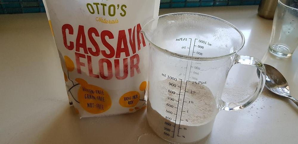 קמח קאסאבה ללא דגנים ללא אגוזים ללא גלוטן
