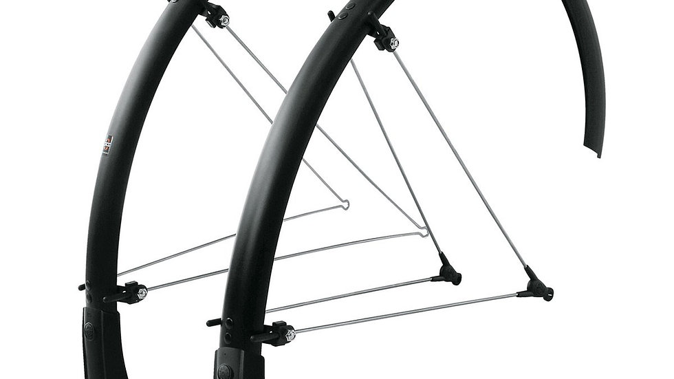 SKS BLUEMELS MUDGUARD SET MATT BLACK 35mm
