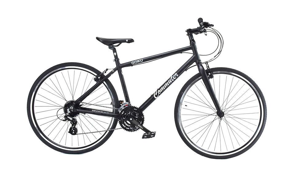 GOKU Alloy Commuters  24 Speed Bike - Black