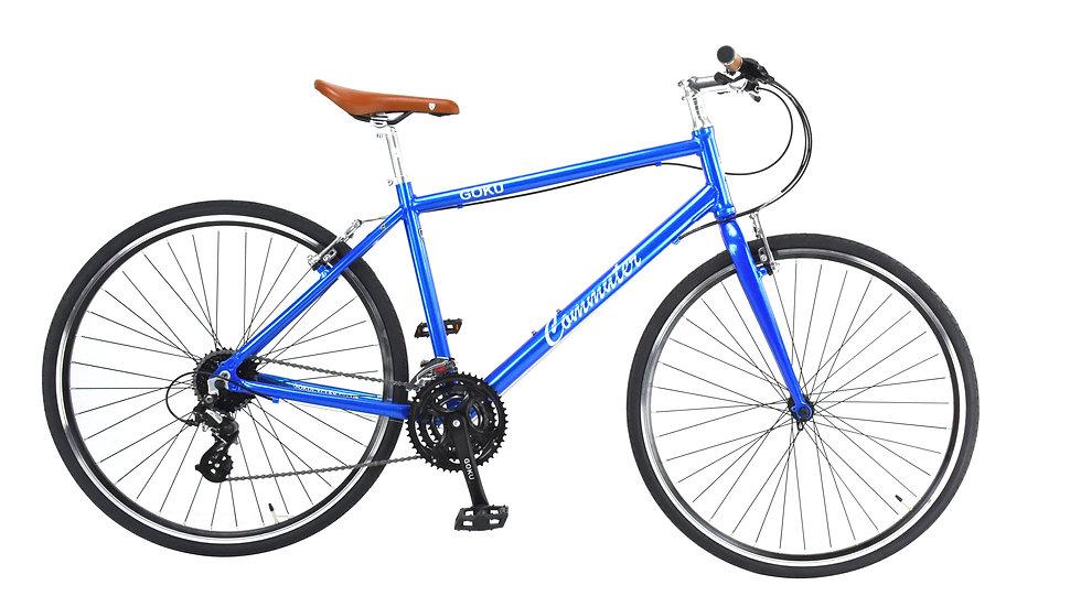GOKU Alloy Commuters  24 Speed Bike - Chameleon Blue