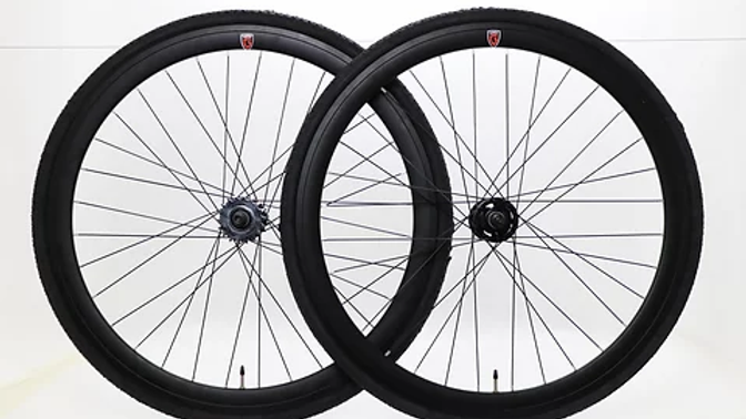 Goku - Matt Black Single Speed wheels Fixed Bike Wheel Set 700c 40mm Flip Flop
