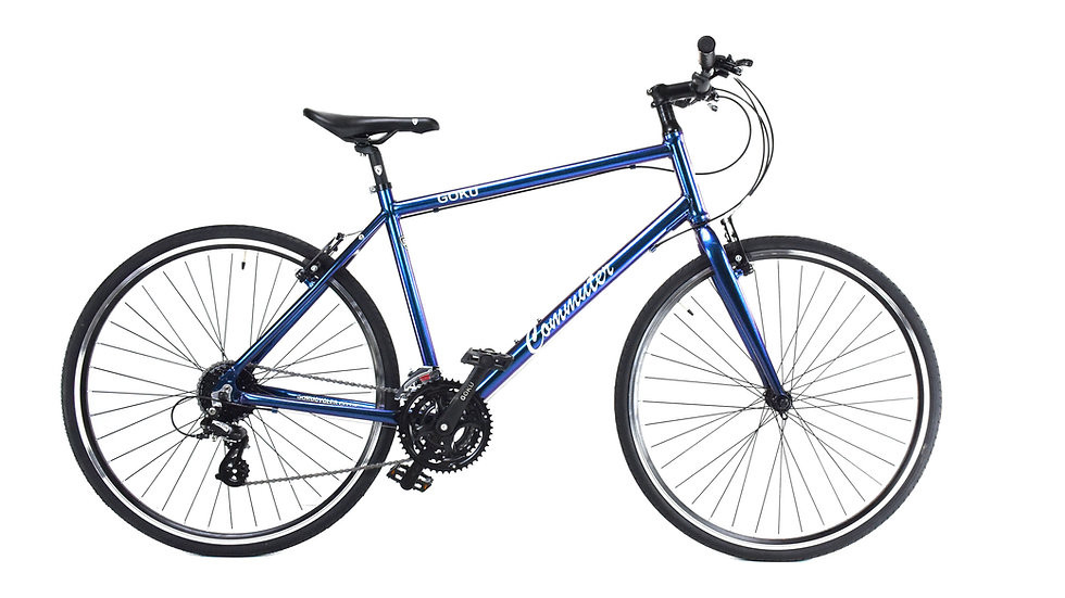 GOKU Alloy Commuters  24 Speed Bike - Chameleon Purple