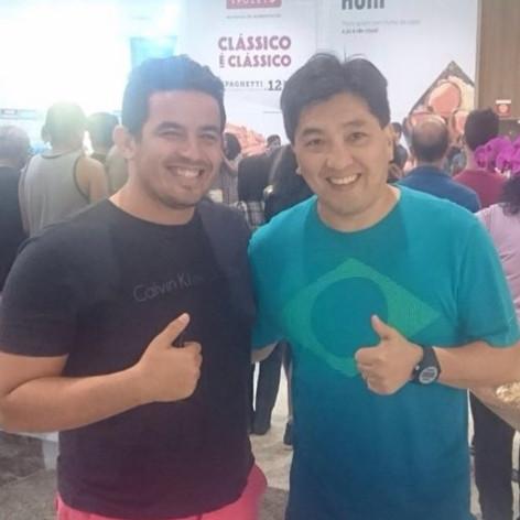 Hoje encontrei o mito do tênis de mesa @hugohoyama #tenisdemesa #medalhista #hugohoyama #mito #brasil