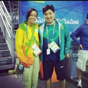 om o nosso grande atleta do #tenisdemesa #HugoHoyama