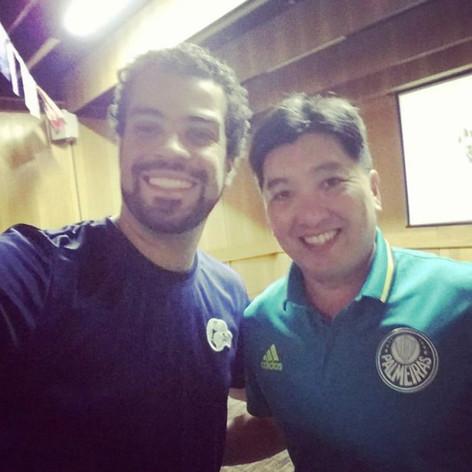 Um super prazer conhecer esse Campeão de tênis de mesa e simpatia. Palestra Show #hugohoyama
