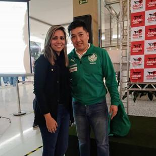 Maior mesatenista brasileiro, que honra conhecer @hugohoyama . . 📷: @estefani_bueno