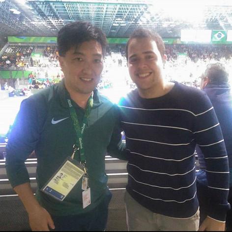 Admiração total por esse grande atleta! Humildade e carisma exagerada! #rio2016 #olimpiadas #hugohoyama #tenisdemesa