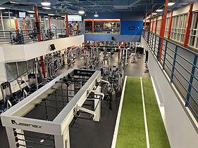 Top view of the gym floor at Echelon Health & Fitness in Voorhees, NJ