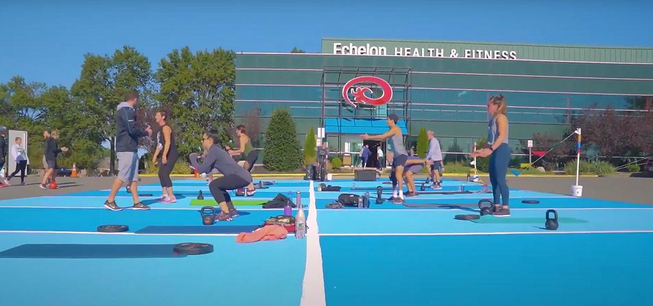 Outdoor fitness class at Echelon Health & Fitness in Voorhees, NJ