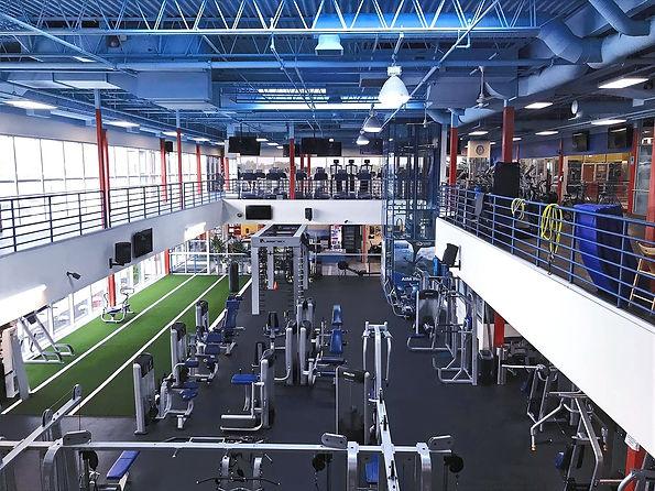 The gym floor at Echelon Health & Fitness