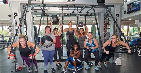 Indoor group fitness class at Echelon Health & Fitness in Voorhees, NJ