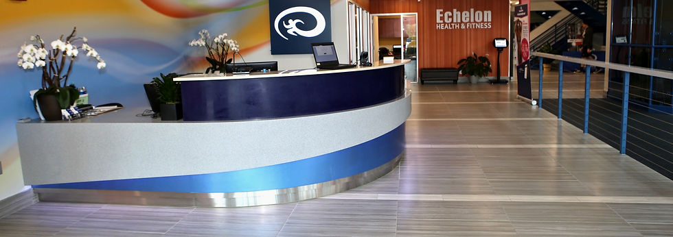 Front desk at at Echelon Health & Fitness in Voorhees, NJ