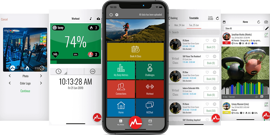 Myzone app display