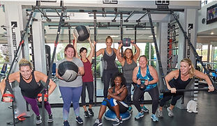 Members in a group fitness class at Echelon Health & Fitness in Voorhees, NJ