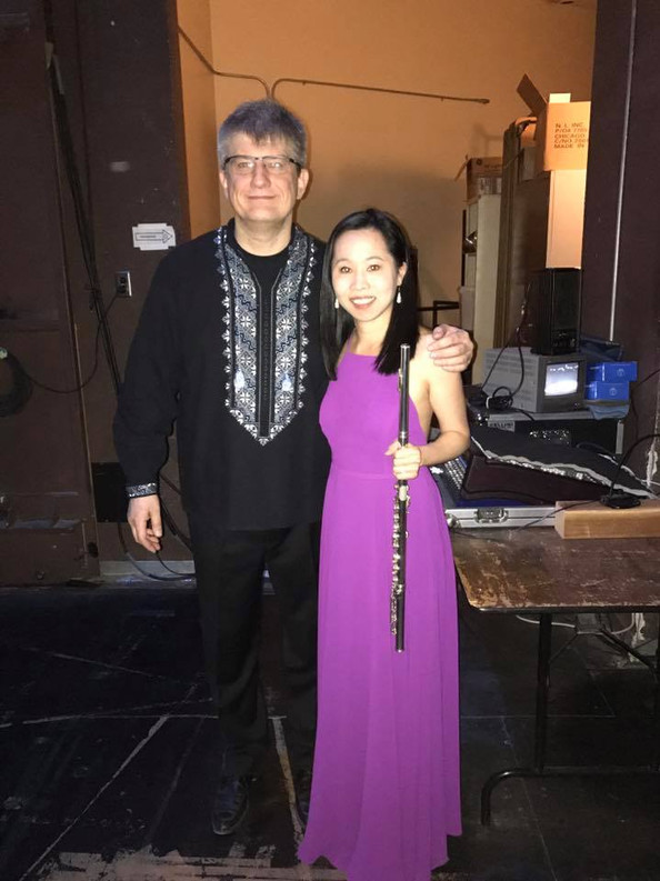 Backstage with the maestro, Taras Krysa, at UNLV (2017)