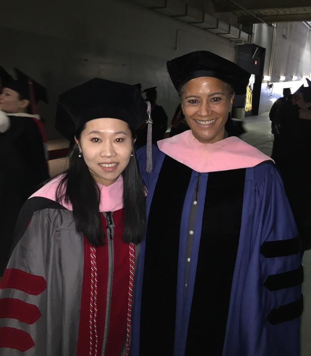 Doctoral graduation with former flute professor, Dr. Jennifer Grim (2016)