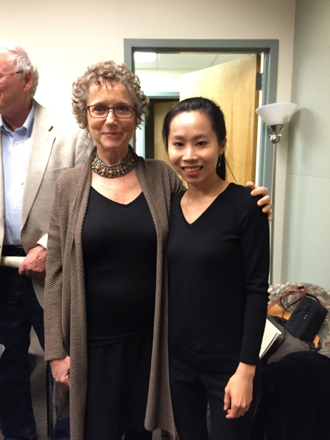 with Pulitzer-prize winning composer Shulamit Ran after my performance of her work, East Wind for solo flute (2016)