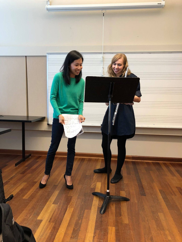 Flute masterclass at Columbus State University (2018)