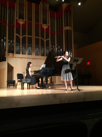 Doctoral flute recital at UNLV, with pianist Katie Leung (2015)