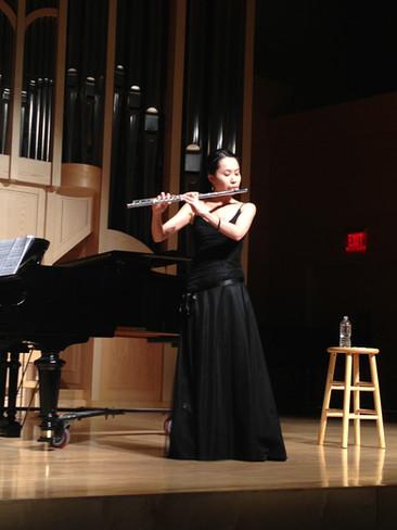 Doctoral flute recital at UNLV (2014)