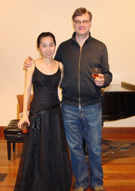 Master's flute recital with professor Keith Underwood at NYU (2017)