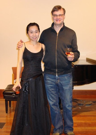 Master's flute recital with professor Keith Underwood at NYU (2017)