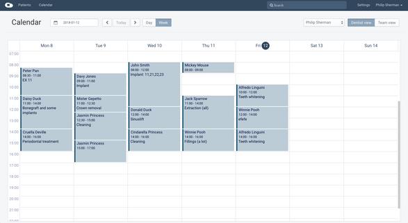 Cloudent EESZT akkreditált fogszati szoftver naptár