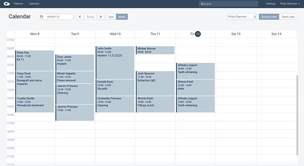 cloudent fogorvosi szoftver naptár