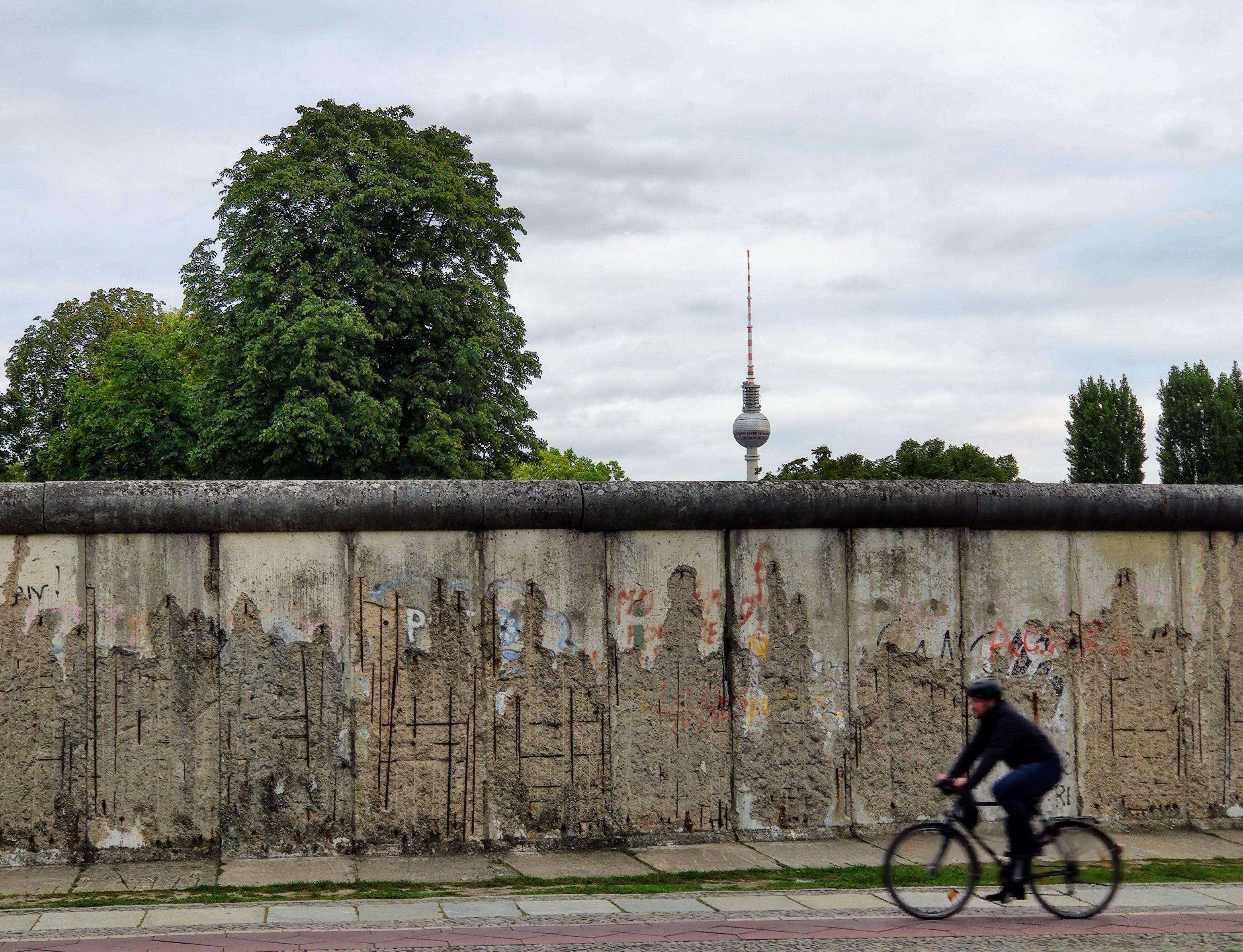Uma das seções originais do muro