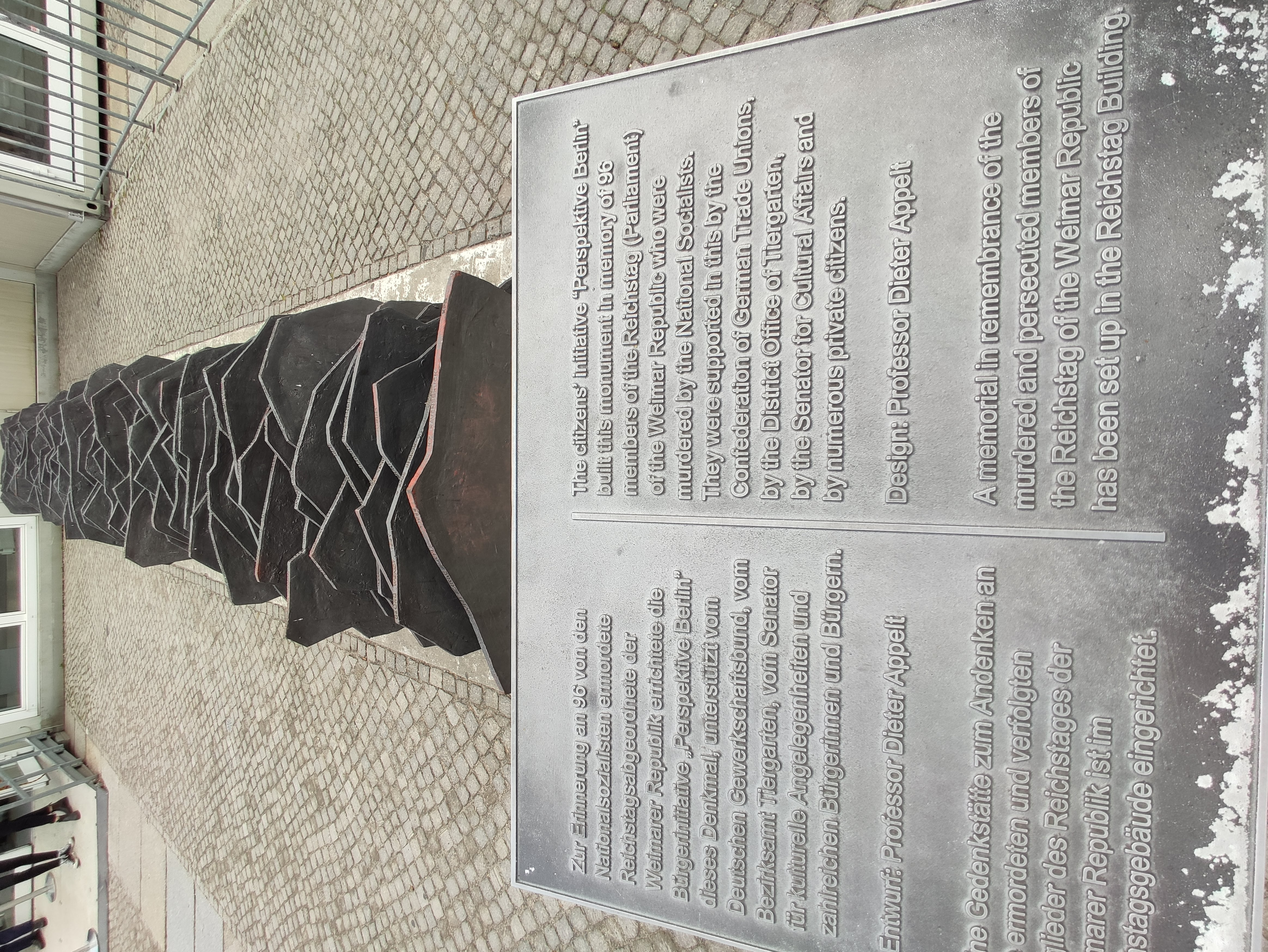 Memorial Murdered Members Reichtag