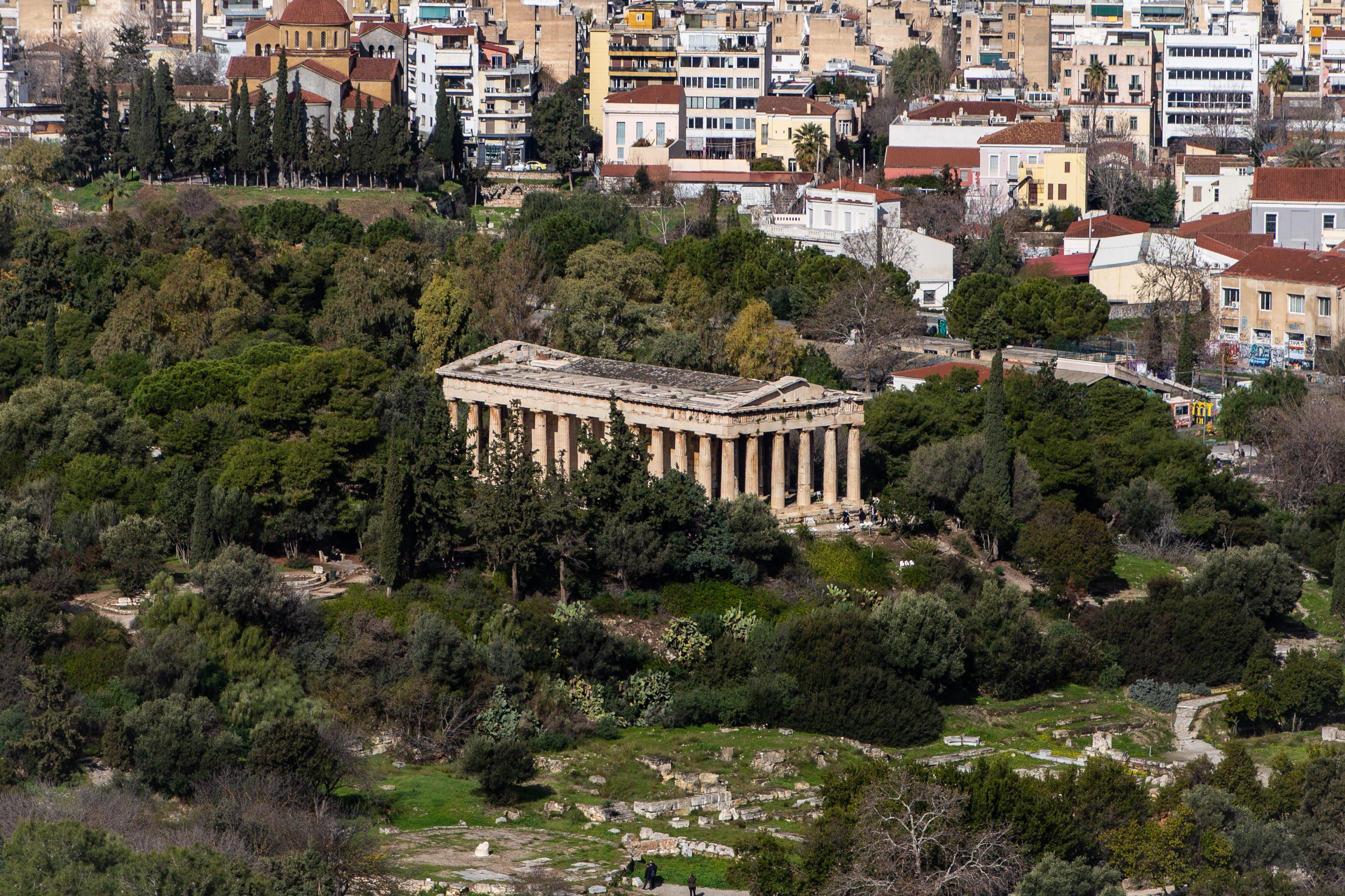 Templo de Hefesto visto da Acropole