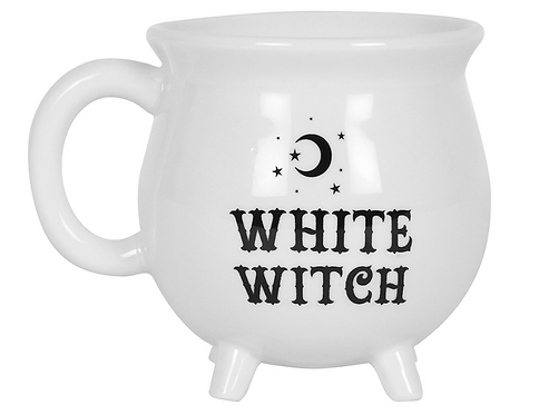 White witch mug with moon