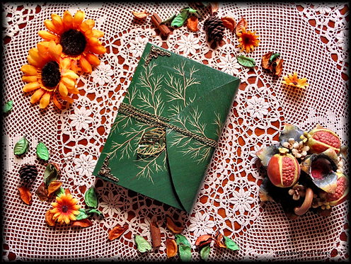 Book of Shadows Herbarium Leaf - Medium size A5 22x16 cm