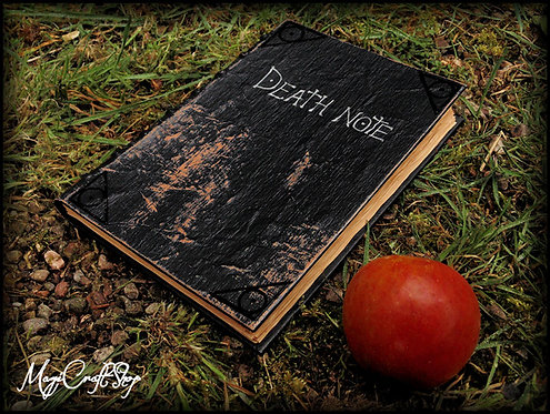 Death Note Book Movie Replica with original parchment pages