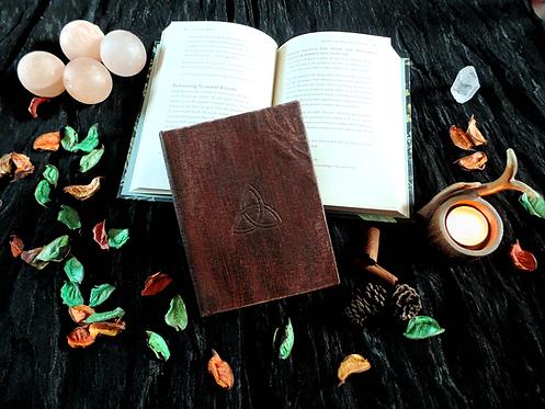 Dark journal book of shadows triquetra - small size 11x16 cm