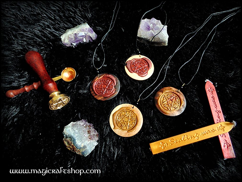 Sealing wax Wicca necklace